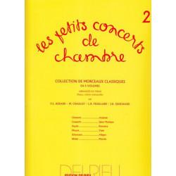 Divers Auteurs - Les petits concerts de chambre Vol. 2 (violon, violoncelle & piano ou harpe)
