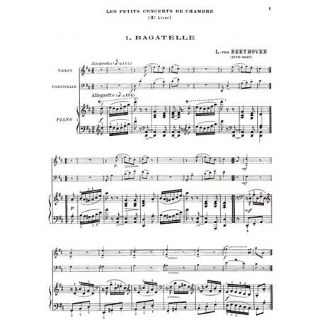 Divers Auteurs - Les petits concerts de chambre Vol. 3 (violon, violoncelle & piano ou harpe)