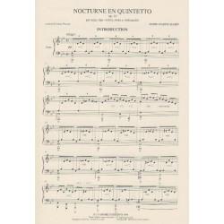 Marin Marie-Martin - Nocturne en quintette op.14, parties (quatuor & harpe)
