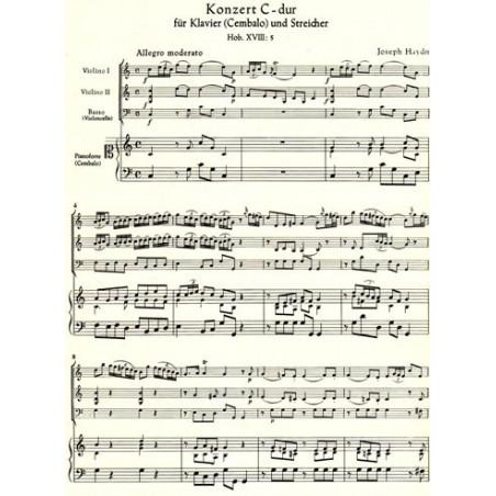 Haydn Joseph - Concerto en do majeur pour piano & cordes