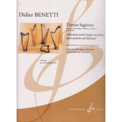 Benetti Didier - Danses fugitives (harpe, r