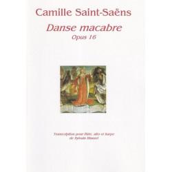 Saint Saëns Camille - Danse Macabre Op. 16 (flûte, alto & harpe)