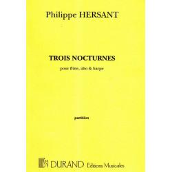 Hersant Philippe - 3 nocturnes (flûte, alto & harpe)(score - conducteur)