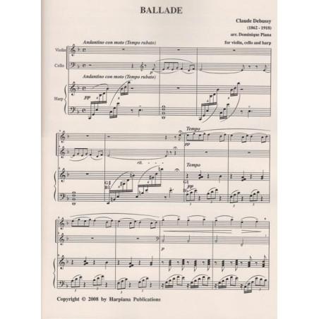 Debussy Claude - Ballade (violon, violoncelle & harpe)