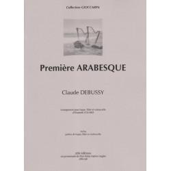 Debussy Claude - 1 ère Arabesque (flûte, violoncelle & harpe)