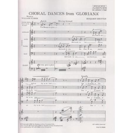"Britten Benjamin - Choral dances from ""Gloriana"" (tenor, harpe & choeur)"