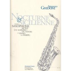 Ghidoni Armando - Nocturne et Sicilienne (Saxophone & harpe ou piano)