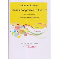 Brahms Johannes - Danses hongroises 1 & 5 (2 & 3 harpes)