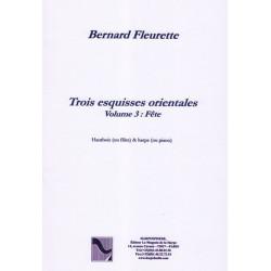 """Fleurette Bernard - Trois esquisses orientales """"F"""
