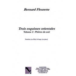 """Fleurette Bernard - Trois esquisses orientales """"Pri"""