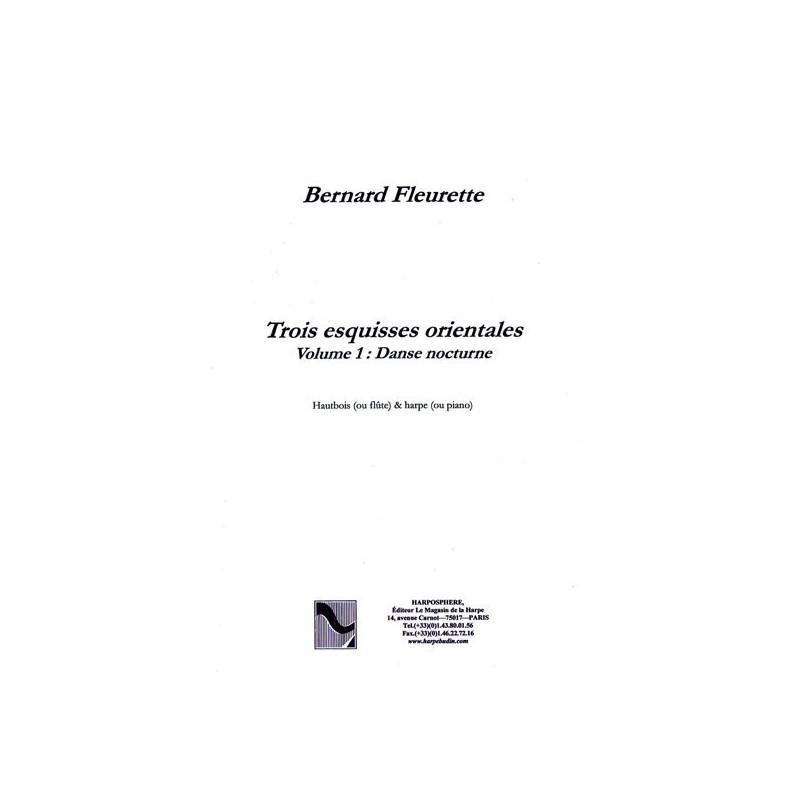 """Fleurette Bernard - Trois esquisses orientales """"Danse nocturne"""" (hautbois ou fl"""