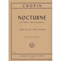 Chopin Frederick - Nocturne en do # mineur (violoncelle & harpe ou piano)