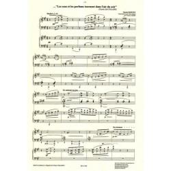 Debussy Claude - Les sons et les parfums tournent dans l'air du soir (2 harpes)(Francis Pierre)