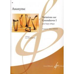 Anonyme - Variations sur Greensleeves vol 1 (harpe celtique)<br>Sabine Chefson