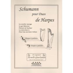 Schumann Robert - Pour duos de harpes