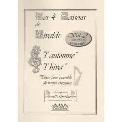 Vivaldi Antonio - Les quatre saisons vol. 2 (1, 2, 3 harpes