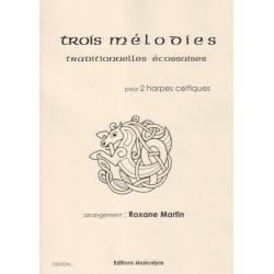 Martin Roxane - Mélodies traditionnelles écossaises pour 2 harpes celtiques