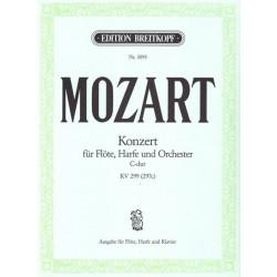 Mozart Wolfgang Amadeus - Concerto pour flûte & harpe (réd. piano : C. Burchard)