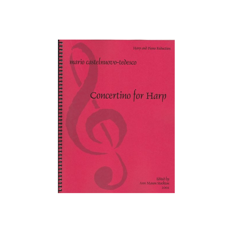 Castelnuovo Tedesco Mario - Concertino for harp<br>(piano reduction with harp)