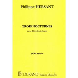 Hersant Philippe - 3 nocturnes (fl