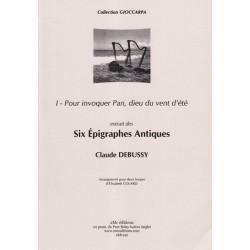 Debussy Claude - 6 Epigraphes Antiques Vol. 1 (2 harpes)Pour invoquer Pan, dieu du vent d'été