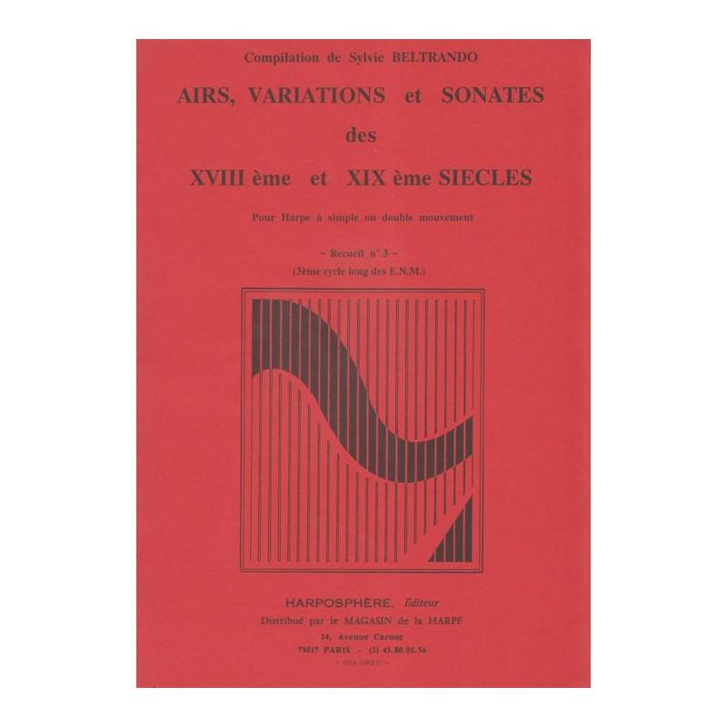 Beltrando Sylvie - Airs,Variations & Sonates des 18
