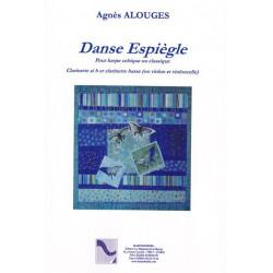 Alouges Agnès - Danse Espiègle  pour harpe celtique ou classique, clarinette en si b et clarinette basse (ou violon et violoncel