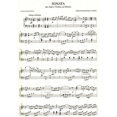 Viotti Giovanni Battista - Sonata per arpa e violino ad Libitum
