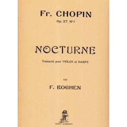 Chopin Frédéric - Nocturne Op. 27 N° 1 (violon & harpe)