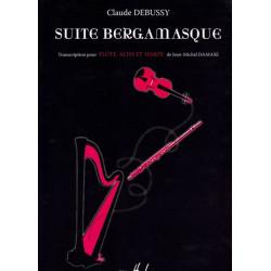 Debussy Claude - Suite Bergamasque  Pour flûte, alto et harpe par Jean-Michel Damase