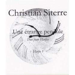 Siterre Christian - Une étrange pendule (deux harpes)