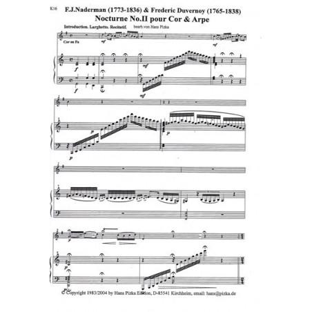 Naderman F. J. et Duvernoy F. - Nocturno II pour cor et harpe