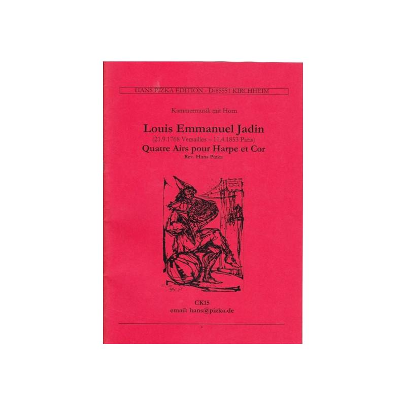 Jadin Louis Emmanuel - Quatre airs pour harpe et cor