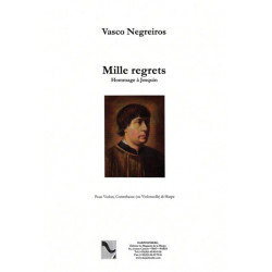 Negreiros Vasco - Mille regrets (violon, contrebasse ou violoncelle et harpe)