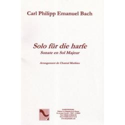Bach Carl Philipp Emmanuel - Solo für die harfe (sonate en Sol Majeur)