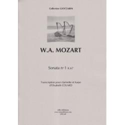 Mozart Wolfgang Amadeus - Sonata No 1 K67 (clarinette et harpe)