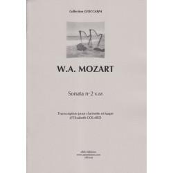 Mozart Wolfgang Amadeus - Sonata No 2 K68 (clarinette et harpe)