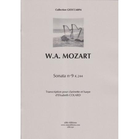 Mozart Wolfgang Amadeus - Sonata No 9 K244 (clarinette et harpe)