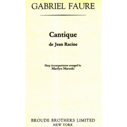 Fauré Gabriel - Cantique de Jean Racine (Harp accompaniment)