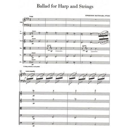 Rautavaara Einojuhani - Ballad for Harp and Strings (Harpe, 2 violons, Alto, violoncelle et contrebasse) Score