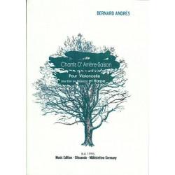 Andrès Bernard - Chants d'arrière-Saison  (violoncelle ou cor ou basson et harpe)