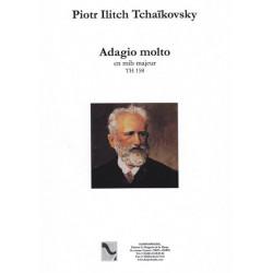 Tchaïkovsky Piotr Ilitch - Adagio molto en mib majeur (TH158) (pour harpe et quatuor à cordes)