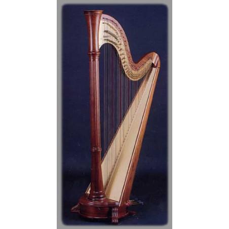 Harpe Aoyama - Orpheus - 46 cordes table droite finition : noyer