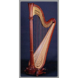 Harpe Aoyama - Vega - 46 cordes table large finition : brun
