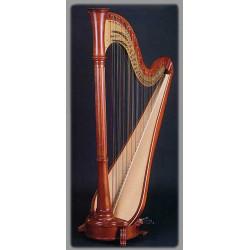 Harpe Aoyama - Orpheus - 47 cordes table large finition : brun