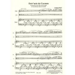 Bizet Georges - Entr'acte de Carmen (flute, alto & harpe)