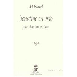 Ravel Maurice - Salzedo Carlos - Sonatine en trio, partie alto