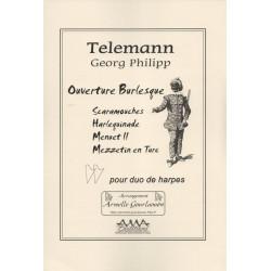 Telemann Georg Philipp - Ouverture Burlesque (2 harpes)