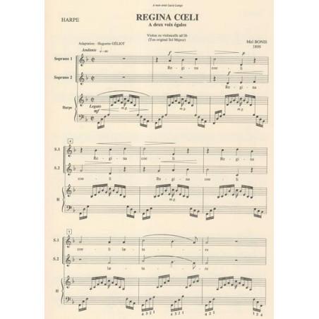 Bonis Mel - Regina coeli (deux voix et harpe)