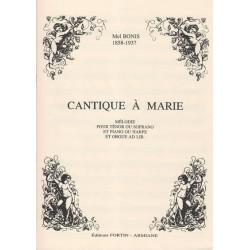 Bonis Mel - Cantique à Marie (ténor ou soprano et piano ou harpe)